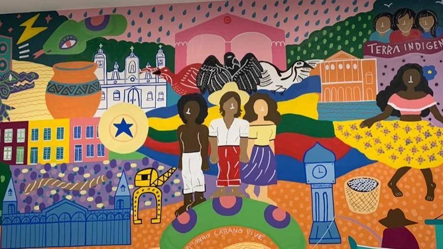 Pintura Iconográfica homenageia Belém com exposição de traços culturais